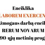 Enciklika LABOREM EXERCENS apie žmogaus darbą