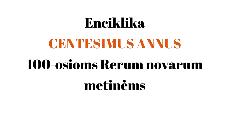 Enciklika CENTESIMUS ANNUS