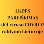 Lietuvos krikščionių darbuotojų profesinės sąjungos pareiškimas dėl viruso COVID-19 valdymo Lietuvoje